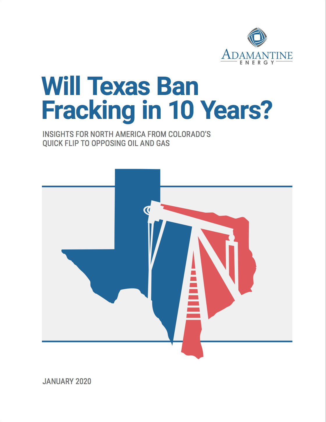 Cover of Will Texas Ban Fracking report